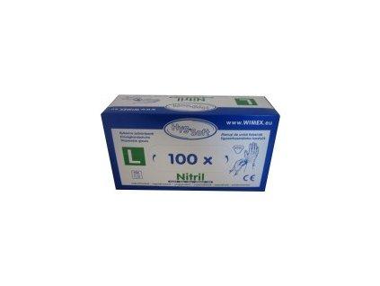 Rukavice Nitrilové bílé  L  100 ks  0168152