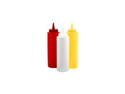 Láhev plastová dávkovací červená 354ml  255046016
