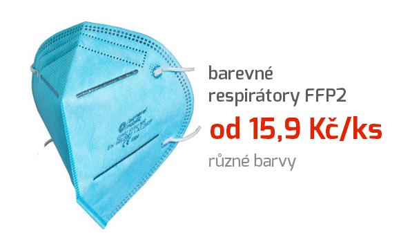 Barevné respirátory