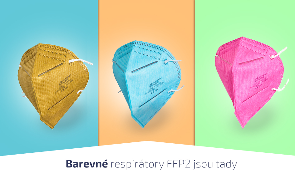 Barevné respirátory FFP2