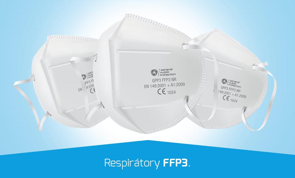 Respirátory FFP3