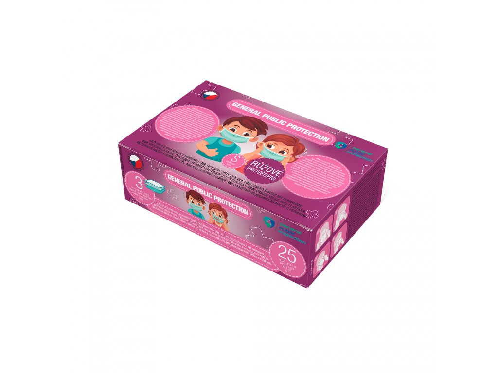 krabice na rousky KIDS 25ks GIRL
