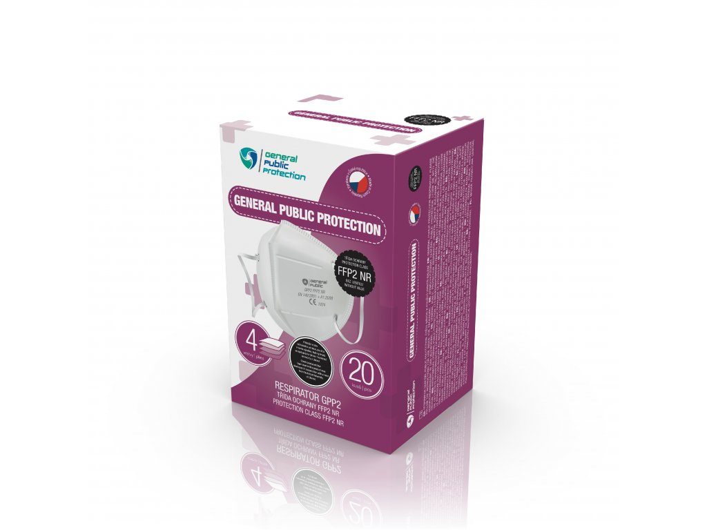 krabice na respirator GPP FFP2 VIOLET 20ks multilang