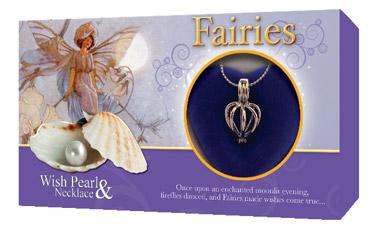 Perla Přání - Víla, motiv Fairies, perla s přetízkem a přívěskem GLOBAL JOURNEY
