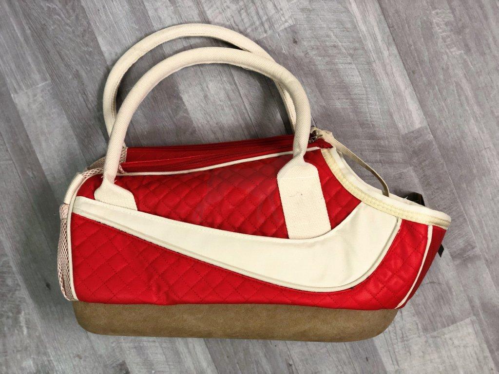 DOPRODEJ Cestovní taška 46x16x24 cm červená