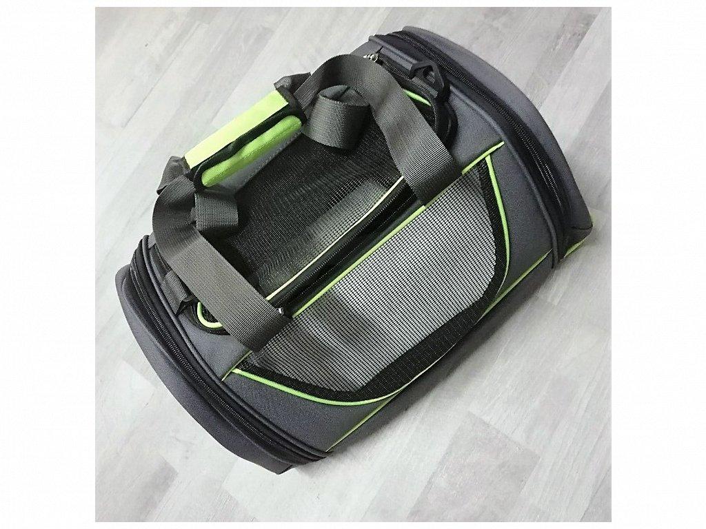 DOPRODEJ Cestovní taška M 51x36x26 cm zelená/černá