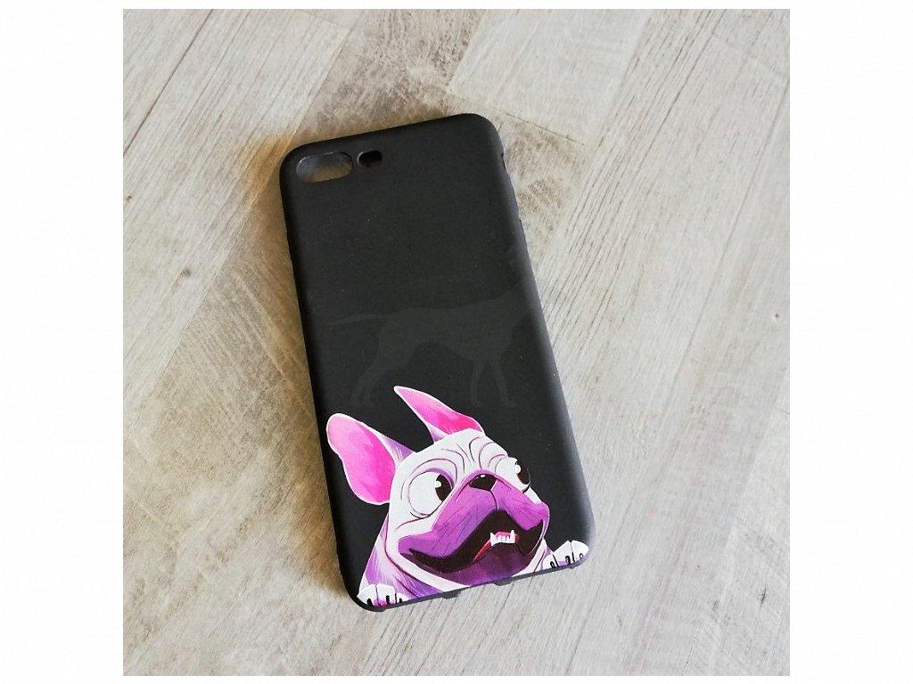 Kryt na telefon Iphone 7 plus Francouzský buldoček