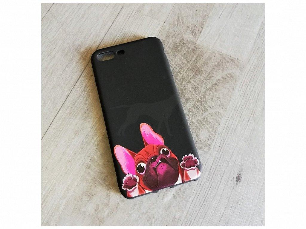 Kryt na telefon Iphone 7 plus Francouzský buldoček (packy)