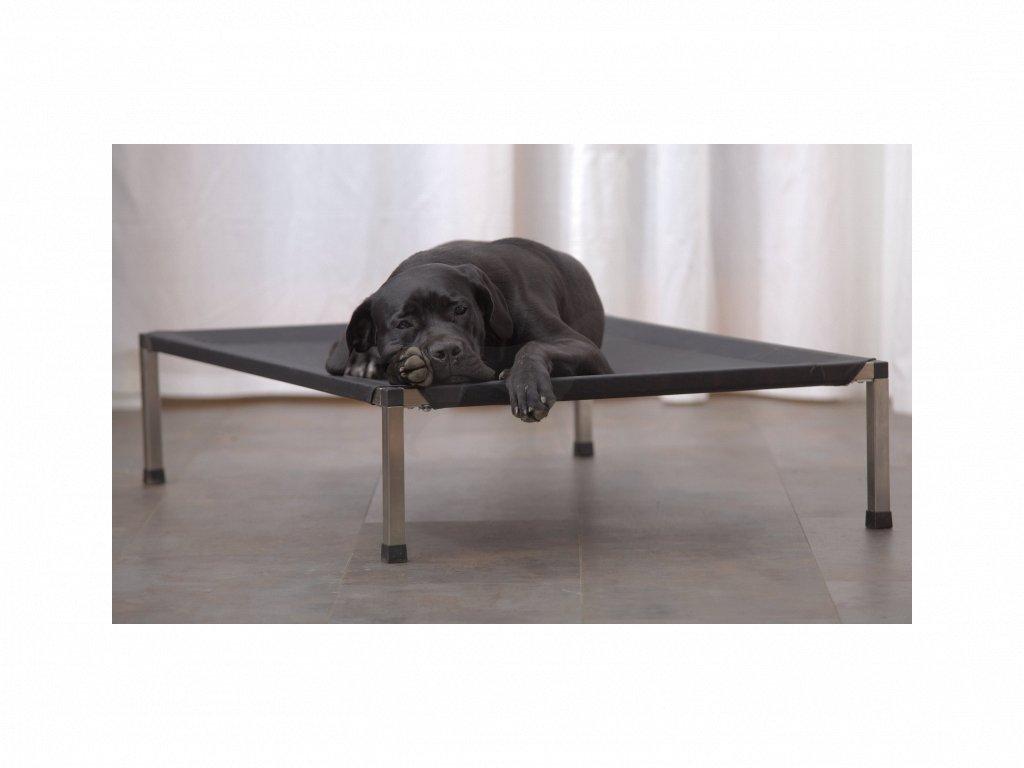 Lehátko ANADI pro psy 110 x 80 x 24,5 cm XL potah černý
