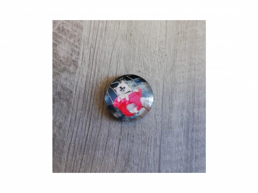 Magnet kulatý plemeno Akita Inu 3 x 3 cm