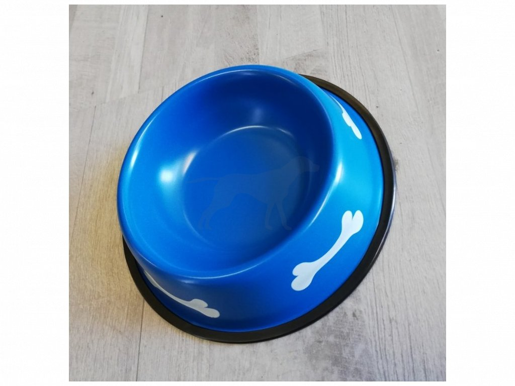 Miska kov 21 cm kost modrá