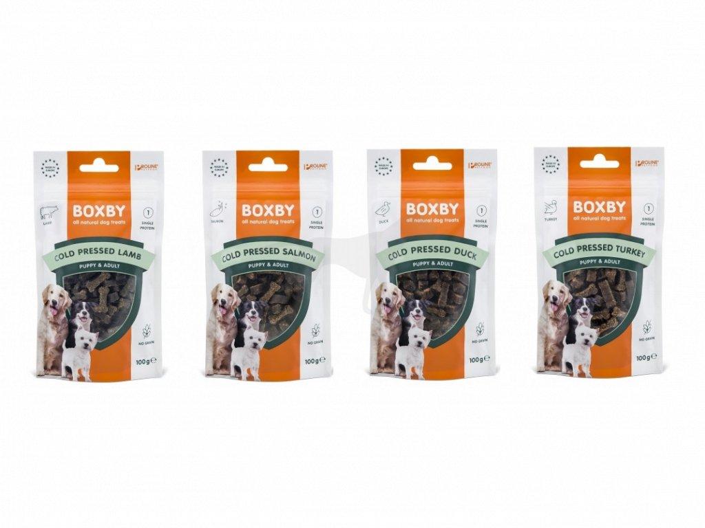 Pamlsek Proline Boxby Multipack MINI kostičky lisované za studena 4 x 100 g