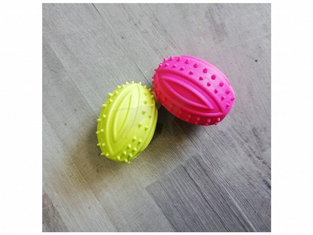 Hračka míč zrno guma/zvuk 10x6 cm