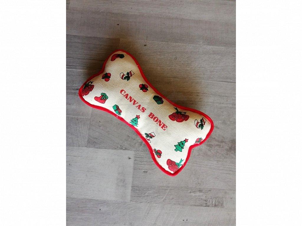 Hračka Vánoční kost zvuk 23x 12cm