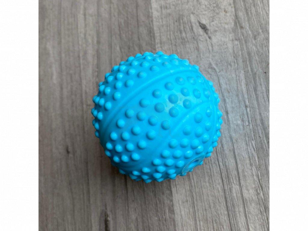 Hračka masážní míč zvuk 7,5 cm