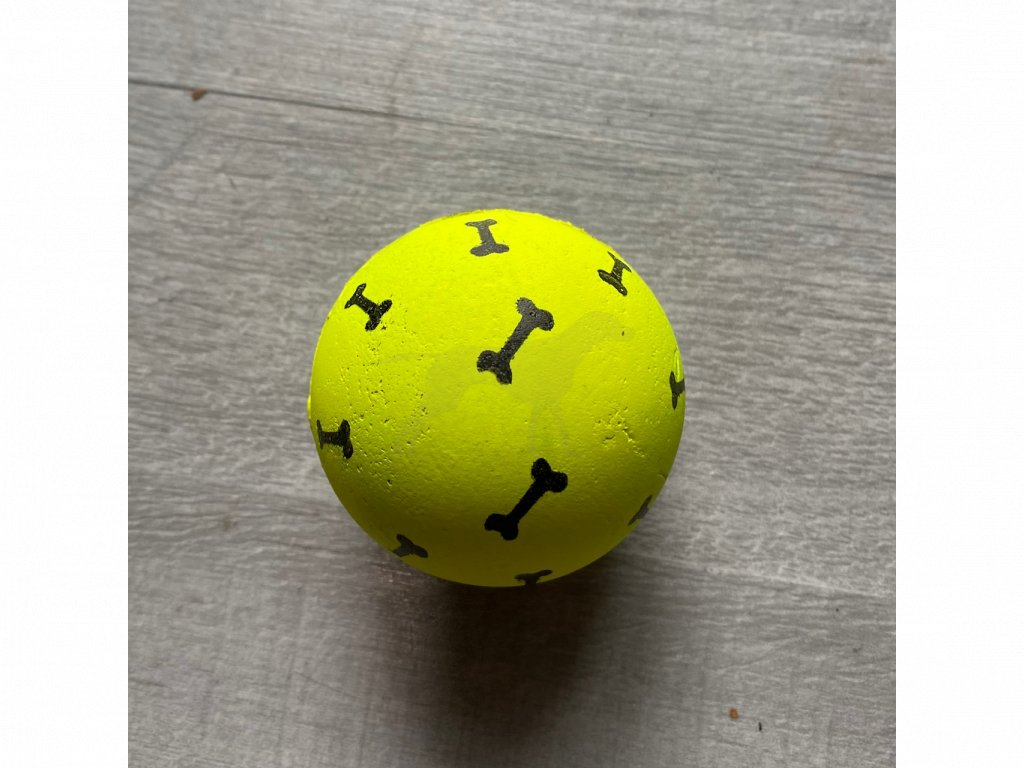 Hračka míč kostičky/pacičky guma 6 cm