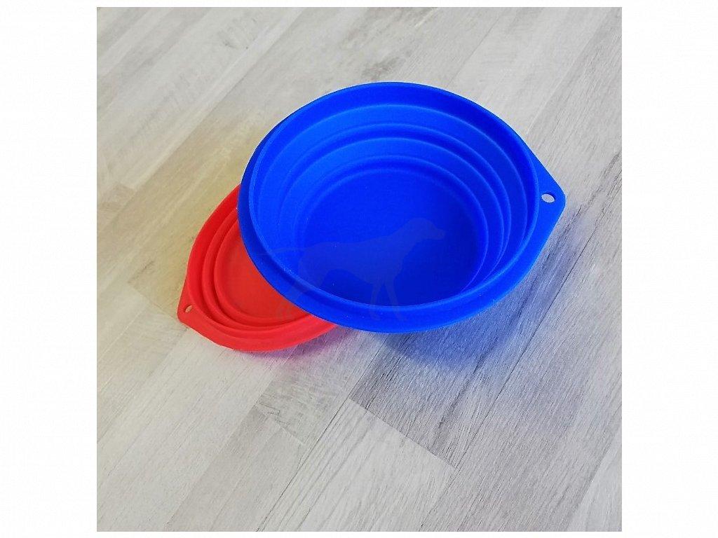 Cestovní miska 18 cm/1000 ml, silikonová mix barev