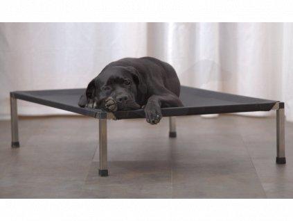 Lehátko ANADI pro psy 60 x 40 x 15 cm S potah černý