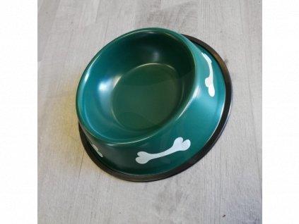 Miska kov 21 cm kost zelená