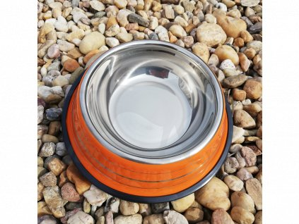 Miska nerezová 21 cm oranžová
