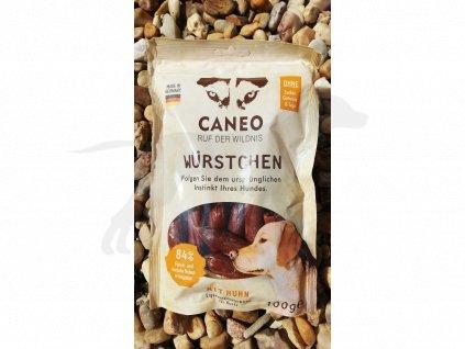 Pamlsek Caneo klobásky s kuřecím masem 100g