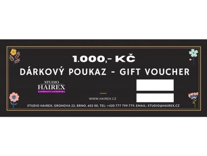 Dárkový poukaz do studia Hairex 1000Kč