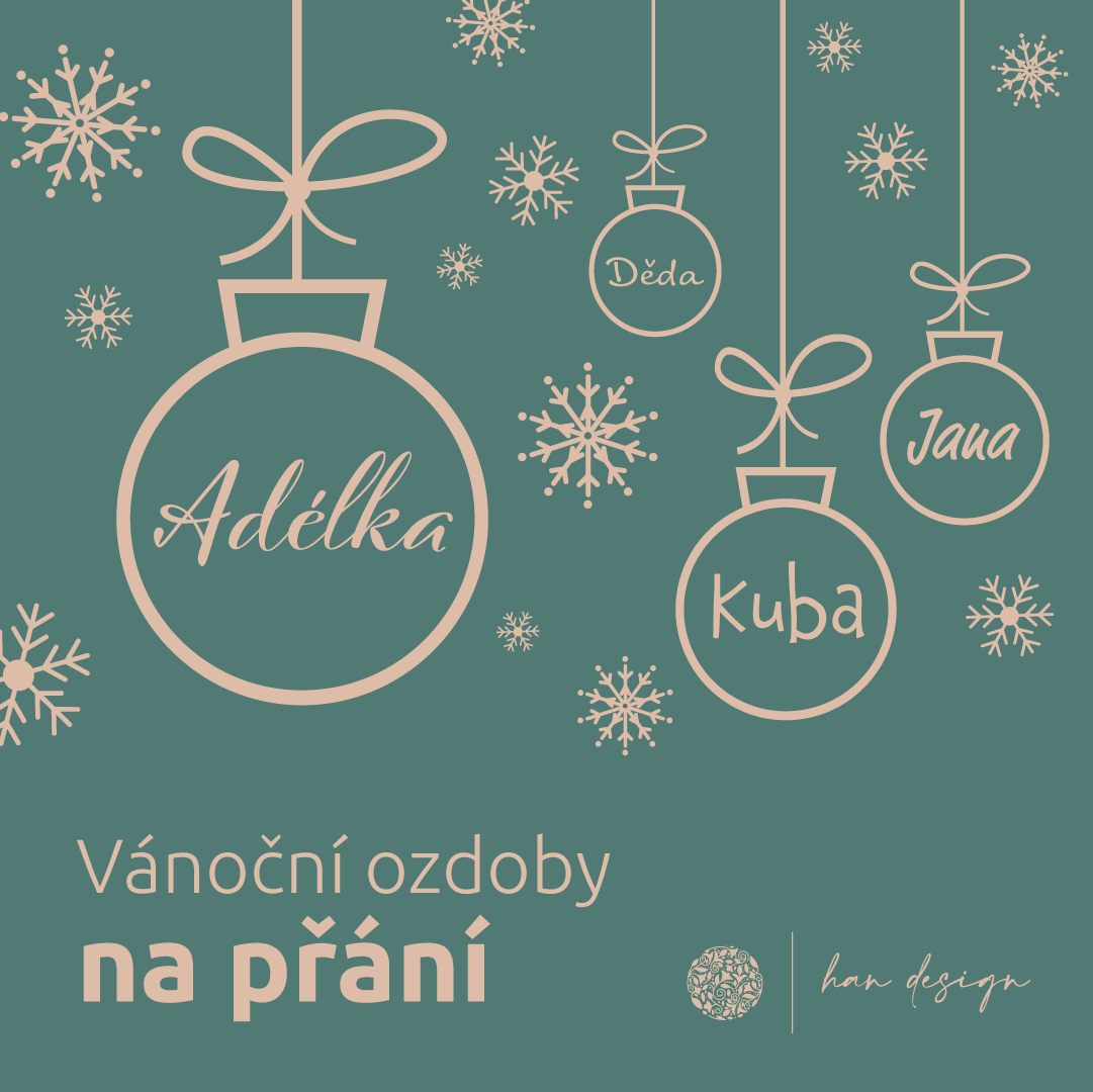 Vánoční ozdoby na přání