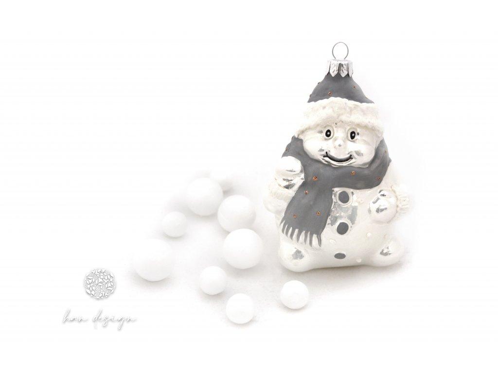 939 siroky snehulak bily porcelan 3