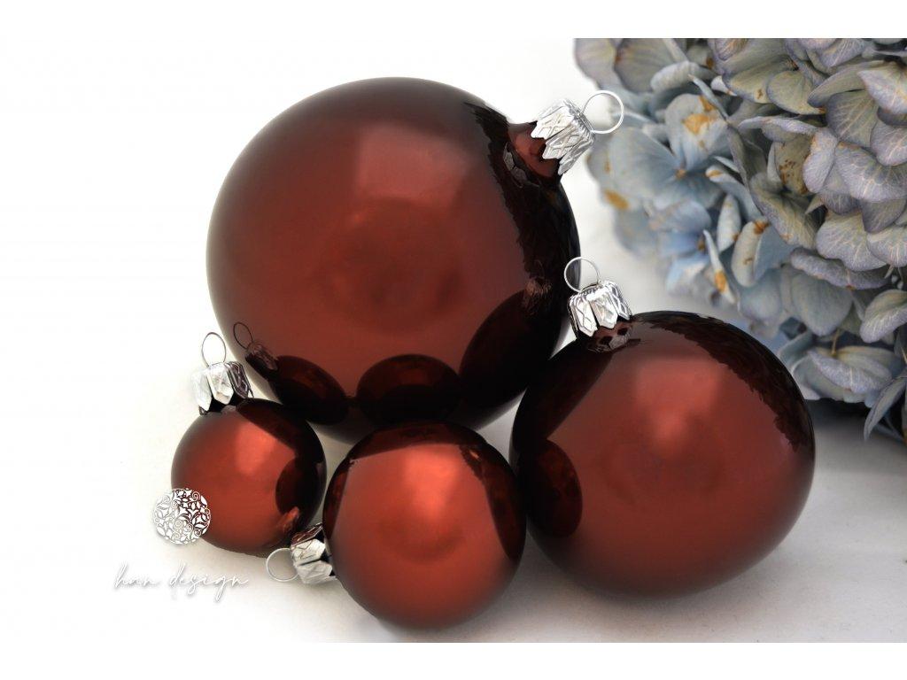 114 koule 8 cm koule 6 cm koule 4 cm koule 3 cm cervenohnedy porcelan