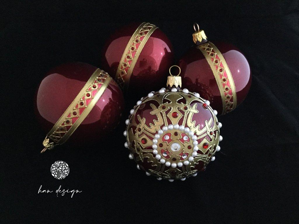 Byzance červená - čtyřkusová kolekce