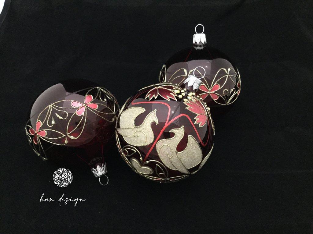 Holuběnka Sivá červená - čtyřkusová kolekce