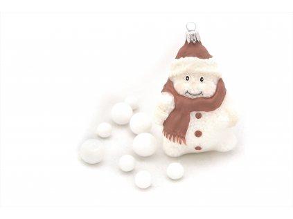 939 široký sněhulák bílý porcelán s kuličkami 31