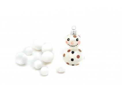 47 sněhulák s nosem bílý porcelán 34