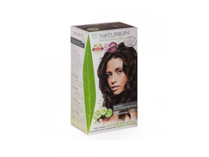 přírodní tmavě hnědá barva na vlasy NATURIGIN Dark Coffee Brown 3.0