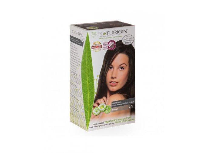 černá barva na vlasy se zlatými odlesky NATURIGIN BLACK EBONY