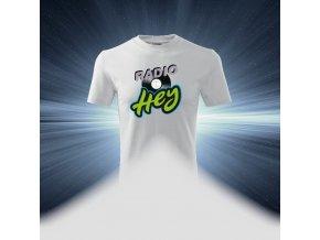 Pánské tričko bílé - Rádio HEY