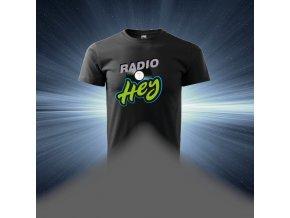 Pánské tričko černé - Rádio HEY