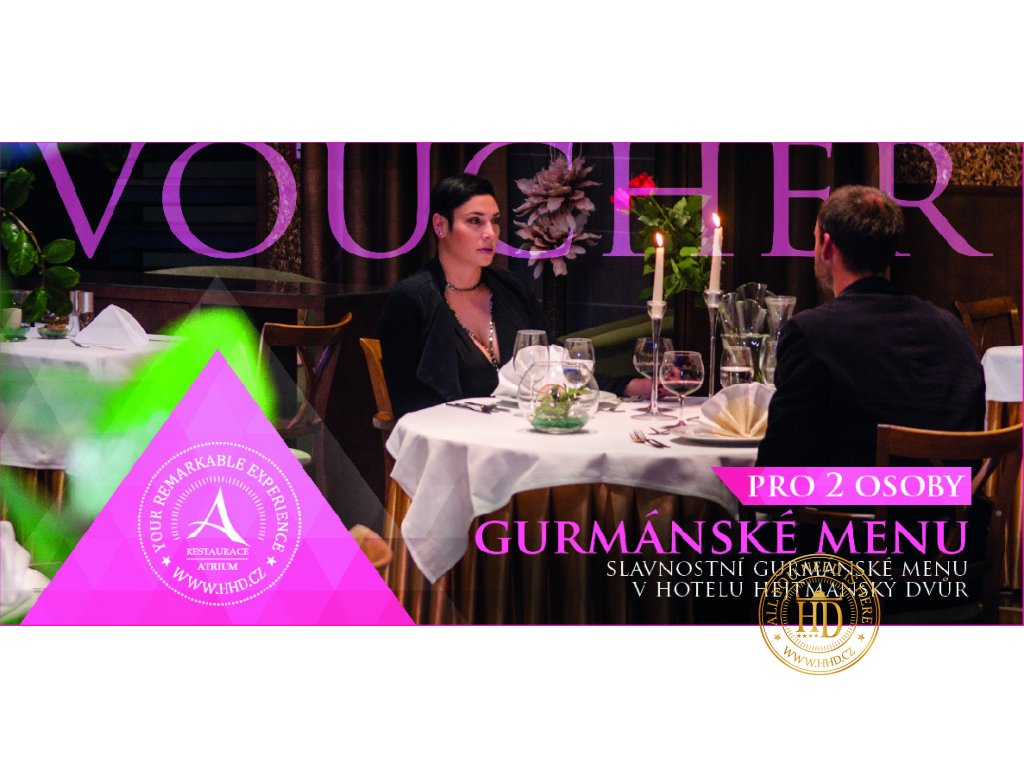 voucher Gurmánské menu