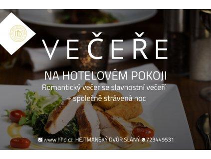 Romantická večeře v hotelu Hejtmanský dvůr ve Slaném
