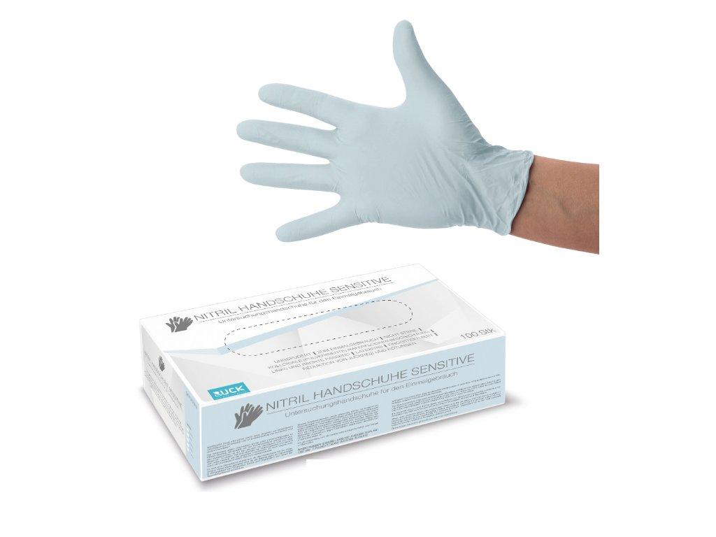 extra šetrné nitrilové rukavice