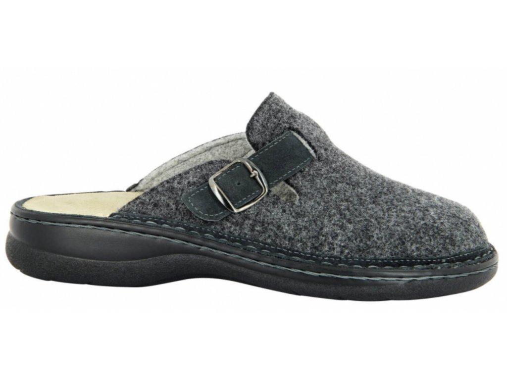 Leo Clogs - diabetická obuv šedá
