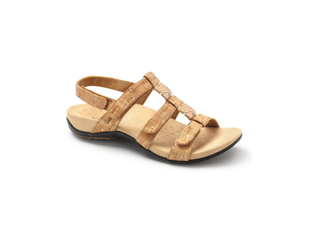 AMBER ortopedické sandály (zlatý korek)