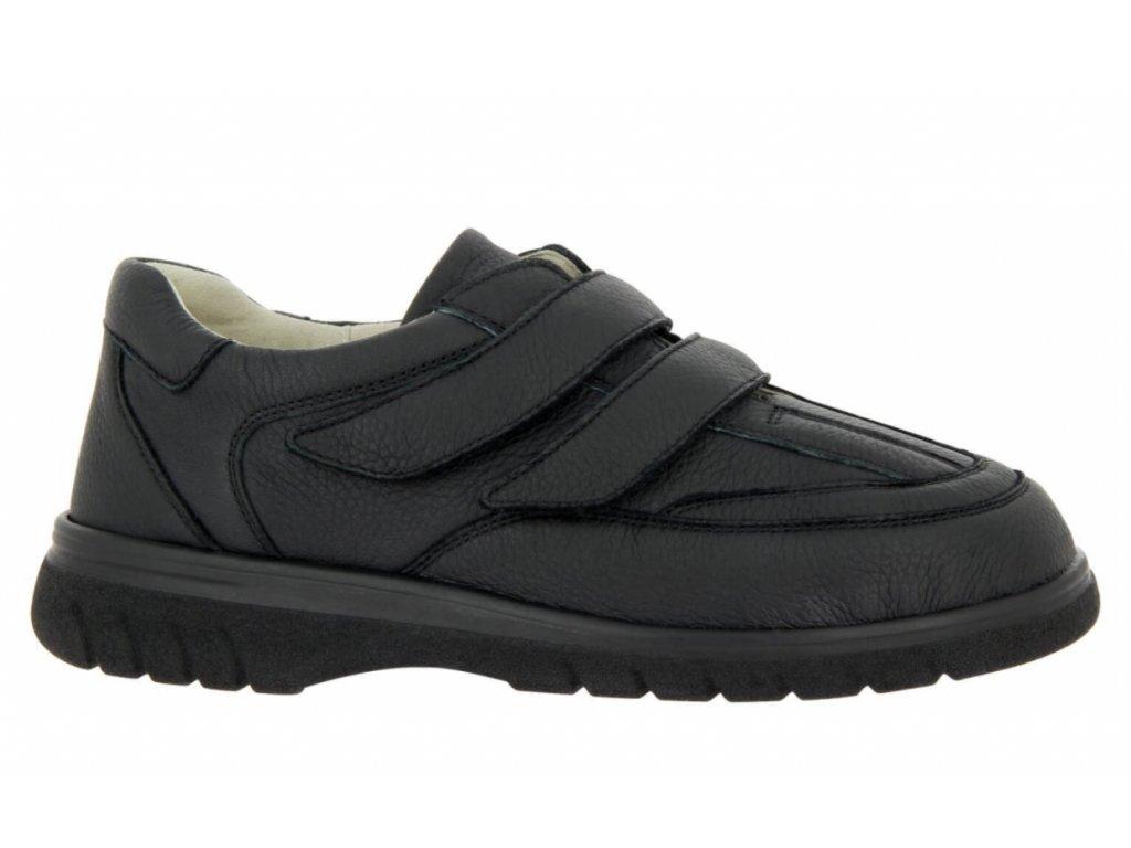 Pánská bota na suchý zip - šíře H