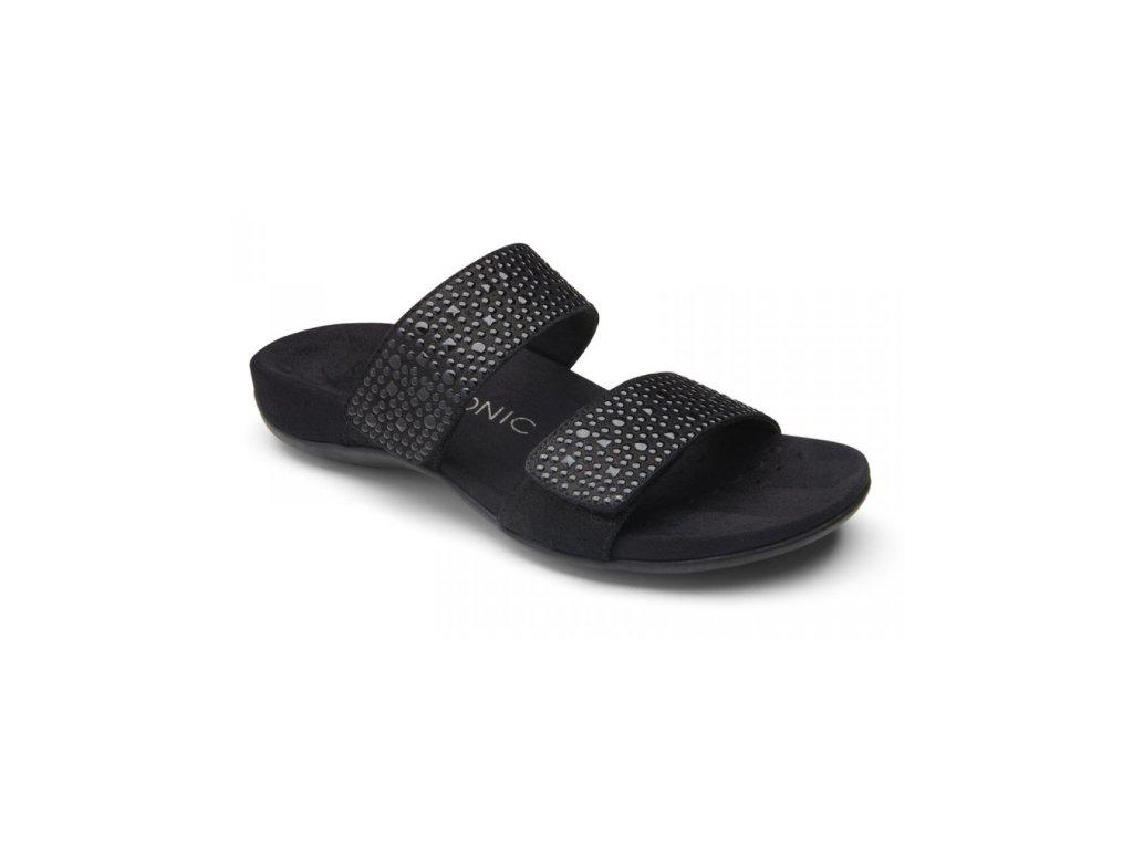 REST SAMOA ortopedické letní pantofle pro ženy (černá)