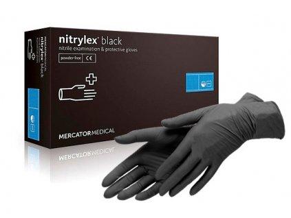 nitrilove rukavice cerne