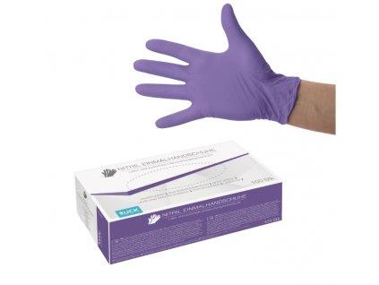 nitrilové rukavice fialové