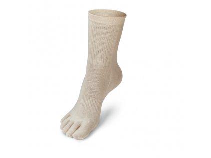 prstove ponozky barvy bezove