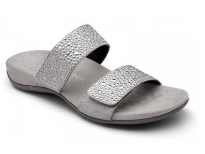 REST SAMOA ortopedické letní pantofle pro ženy (stříbrná)