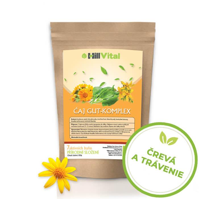 HillVital | Čaj na trávenie/ Čaj na podporu trávenia Gut-komplex (EKO) 150g