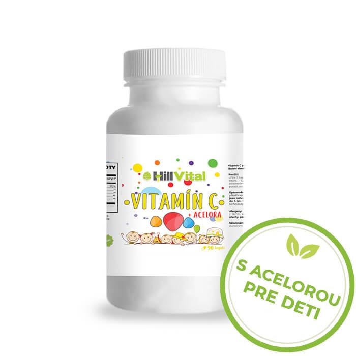 HillVital   Vitamín C s acerolou pre deti - 90 tabliet